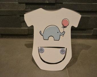 Baby Shower Card, Boy Baby Card, Boy Baby Shower Card, Girl Baby Card, Girl Baby Shower Card, Onesie Card, Baby Shower Elephant Card