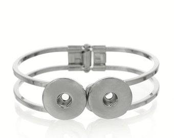 Snap Button Charm Bracelet