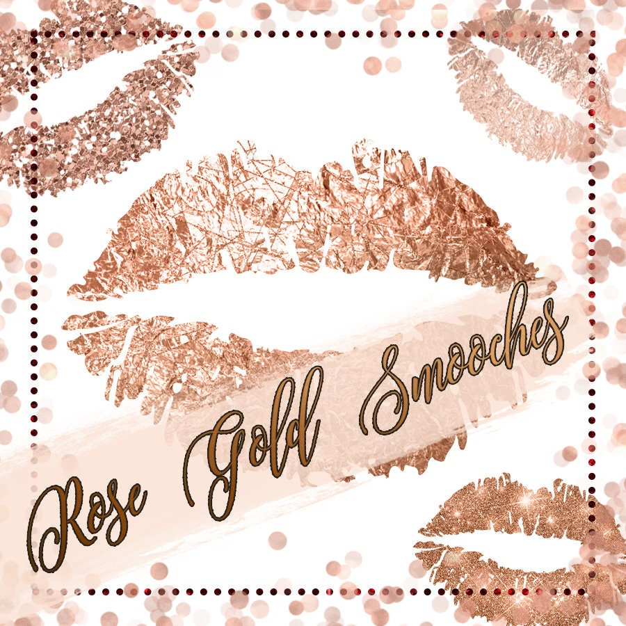 Lips Clipart Rose Gold Lips Rose Gold Clipart Lips Clip
