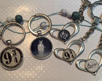 Key-ring cabochon glass cabochon Harry Potter