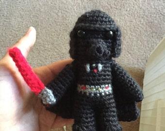 Cute Darth Vader Doll Star Wars Crochet Amigurumi