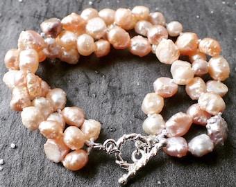 Braided pearl bracelet