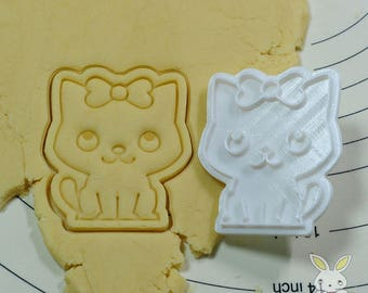 Ribbon Cat Cookie Cutter and Stamp