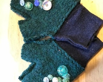 Upcycled Sweater Mittens- Fingerless