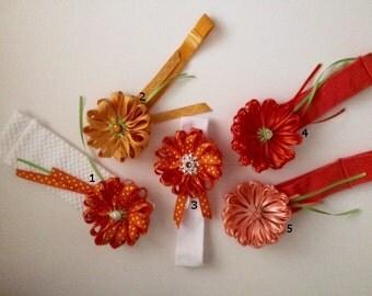 Handmade Orange Headbands
