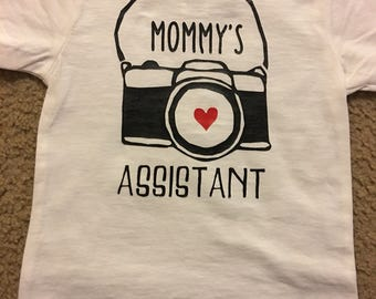 Photography mommys assistant shirt