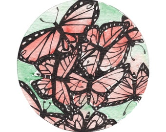 "Butterfly Flurry ""8x8"" Print"