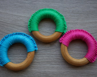 Eco-Friendly 100% Natural Baby Teething Ring