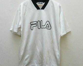 Vintage FILA Italia Sportwear V Neck Jersey Trainer - Size L