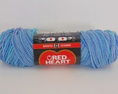 Ocean variegated -  Red Heart Super Saver variegated yarn worsted weight - 3026