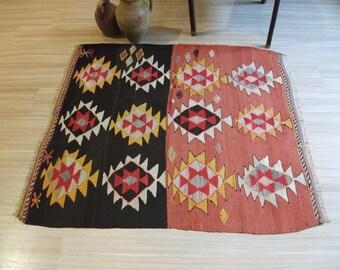 Kilim Rug, Turkish Kilim Rug, Small Kilim Rug, Vintage Kilim Rug, Old Kilim Rug, Tribal Kilim Rug, Rug, Rugs