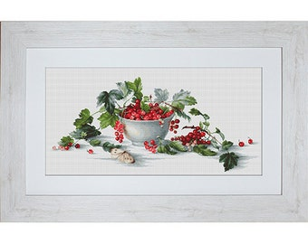 Red Currants Counted Cross Stitch kit Luca-S