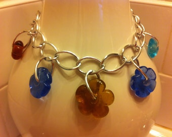 Glass Flower Necklace