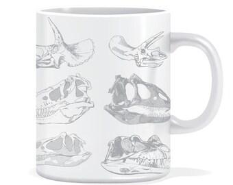 Dinosaur skulls mug