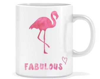 Fabulous flamingo mug