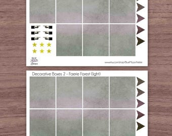 Faerie Forest light purple green Erin Condren Planner Weekly Sticker Set