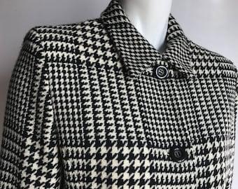 Votre Nom Paris 4 Pure Wool Blazer Houndstooth 90's
