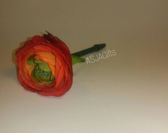 Red/Orange Flower Pen - Office Supplies
