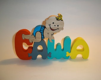 Name Puzzle-Personalized Wooden Name Puzzle -Custom Name Puzzle - Baby Gift - Educational Toys