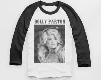 Dolly Parton - Vintage Look Baseball Jersey - Raglan Top - T Shirt  - S M L XL