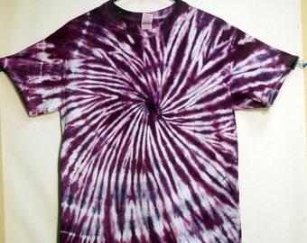 Tie Dye Purple Spiral Short Sleeve Plum T-Shirt