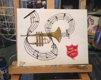 SA Trumpet - Acrylic Painting