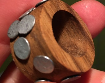 Wooden ring and studs