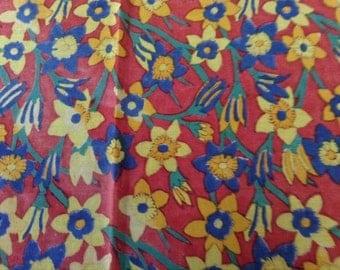 Vintage Daffodil Scarf