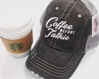 Coffee before talkie trucker hat~ coffee before talkie baseball hat