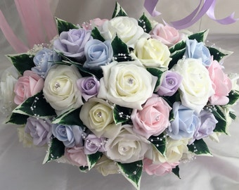 Wedding bouquet Light Pastel colours  & Ivory wedding bouquets, Brides, Bridesmaids, Flowergirls etc
