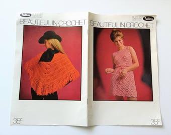 Vintage 1970s crochet pattern book / Patons Book 953 Totem, Bluebell Ladies' Crochet / 'Beautiful in Crochet'