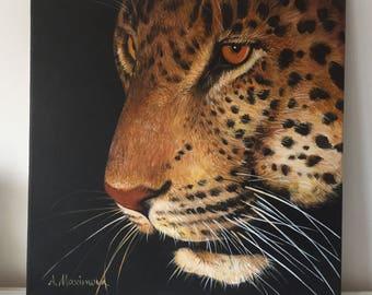 Leopard Portrait - Acrylic Painting - Original Painting