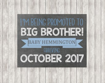 Digital Promoted To Big Brother Announcement | Pregnancy Announcement | Baby Announcement