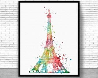 eiffel tower Decor Eiffel Tower Print, eiffel tower art, paris art, paris print, Watercolor Decor, paris wall art, ArtPrintZone