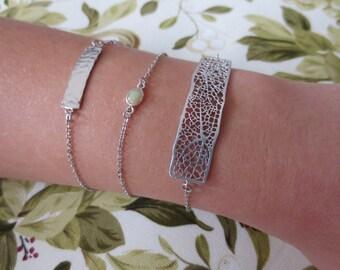 Silver Mesh Bar Bracelet