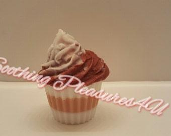 Island Margarita Two Tone Icing Cupcake! Handcrafted/Handmade M&P Soap
