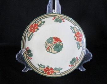 1920s Art Nouveau Pattern China Dinnerware Plate Vintage 9 11/16 in Diameter