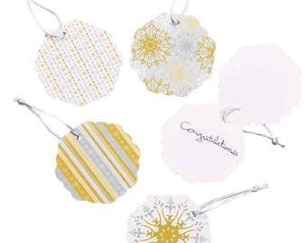 Gold & Silver Favor Tags (24)