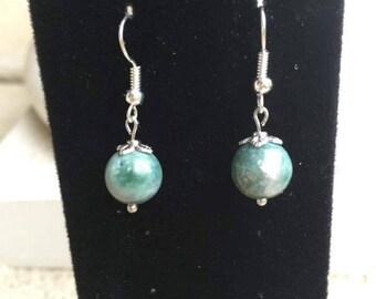 Agate Dangle Earrings, Drop Earrings,