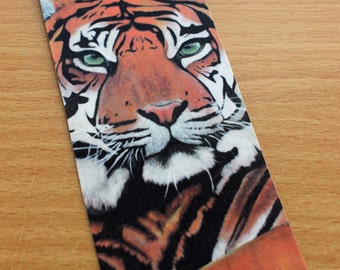 Tiger Bookmark, Animal Art Boomark, Book Lover Gift