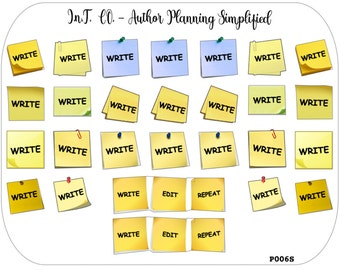 Author Planner Stickers - Write Posties