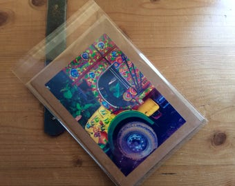 Handmade Card with Image of Indian Truck
