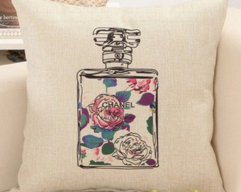 Chanel Perfume Pillow Case