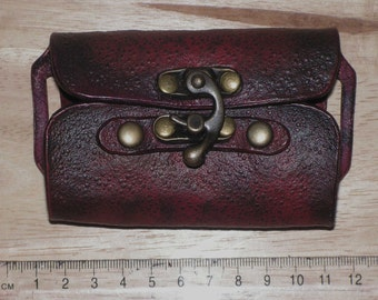 Ox Blood Red 2 Bottle Potion Holder, Larp, Role Playing
