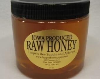 24 oz. Raw Iowa Honey