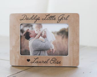 Father's Day Gift Personalized Picture Frame, Father Daughter, Daddy's Little Girl, Gift from Daughter, New Dad, Daughter