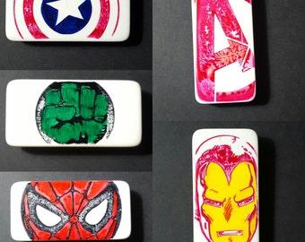 Marvel Avengers Stamped Domino Magnet Set of 5