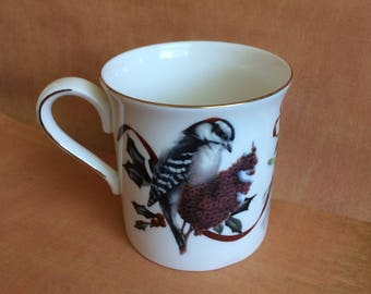 Lenox Winter Greetings Downy Woodpecker Mug by Catherine McClung