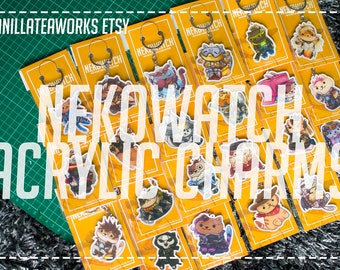 Overwatch x Neko Atsume Charms