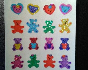 Sandylion Stickers Glittery Mini Bears and Hearts  (1 mod)